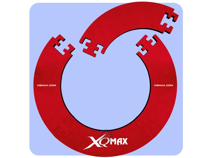 xqmax dartboard surround jigsaw red
