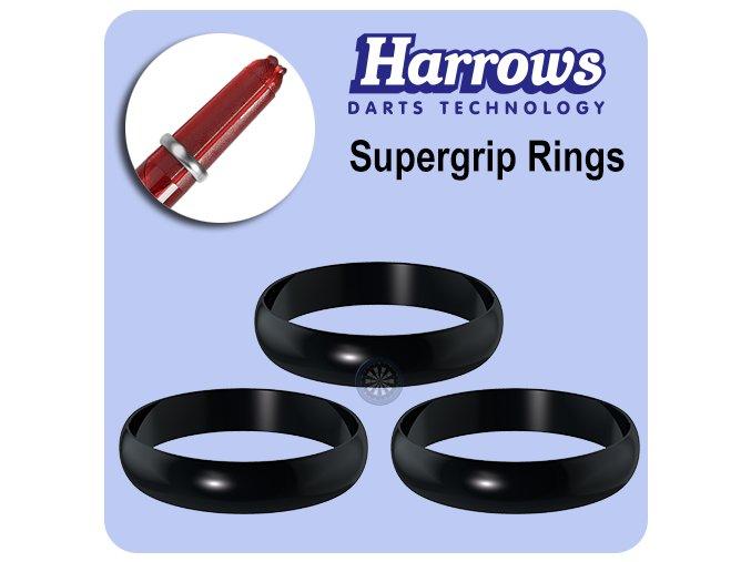 harrows supergrip spare rings black