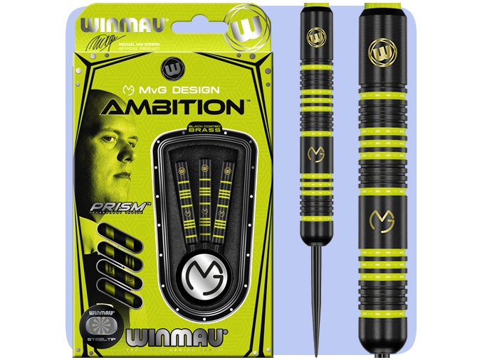 winmau mvg ambition darts steel 1233 base