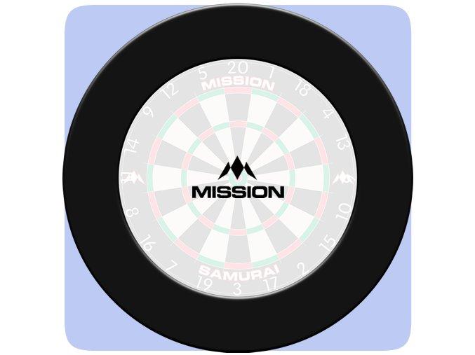 mission dartboard surround plain black