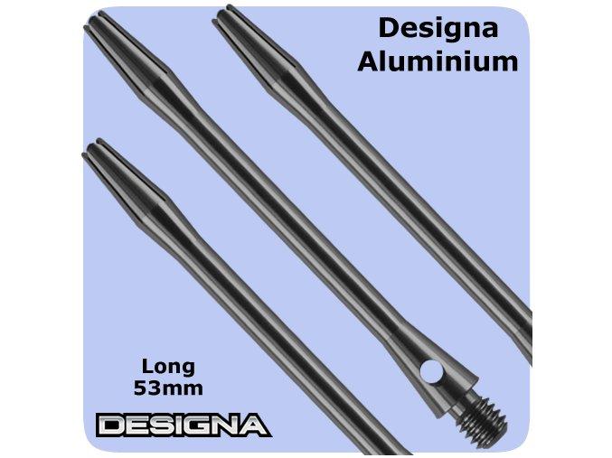 designa aluminium shafts gun metal long