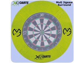 michael van gerwen dartboard surround jigsaw green