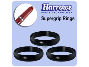 harrows supergrip spare rings black