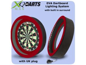 xqmax dartboard lighting system eva red uk