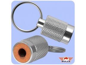 bulls aluminium keyring sharpener