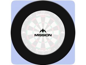 mission dartboard surround plain black