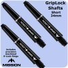mission griplock shafts short black with rings