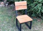 Zahradní židle s kovovými nohami
