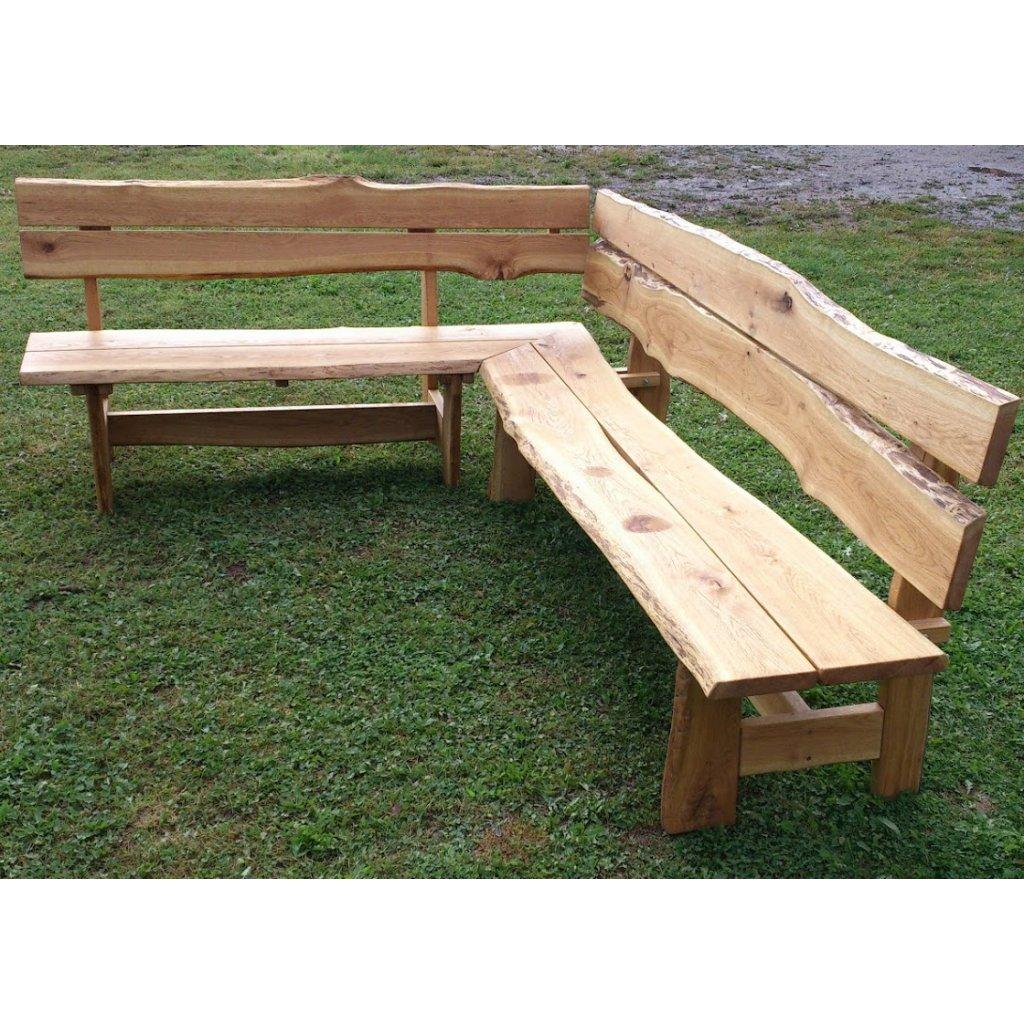 Rustikální rohová lavice