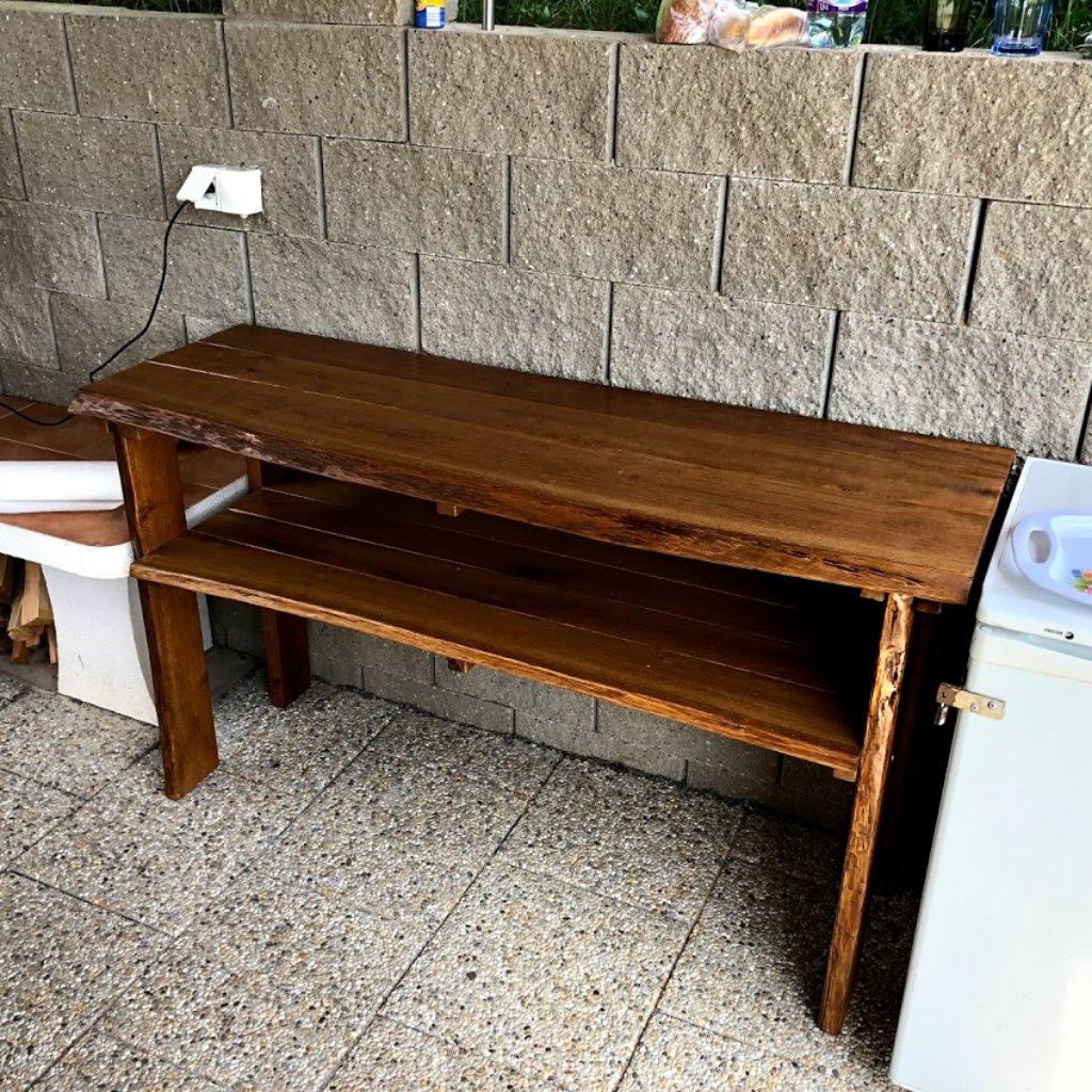 Rustikální dubový pult