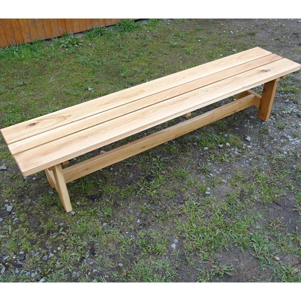 Dubová zahradní lavice