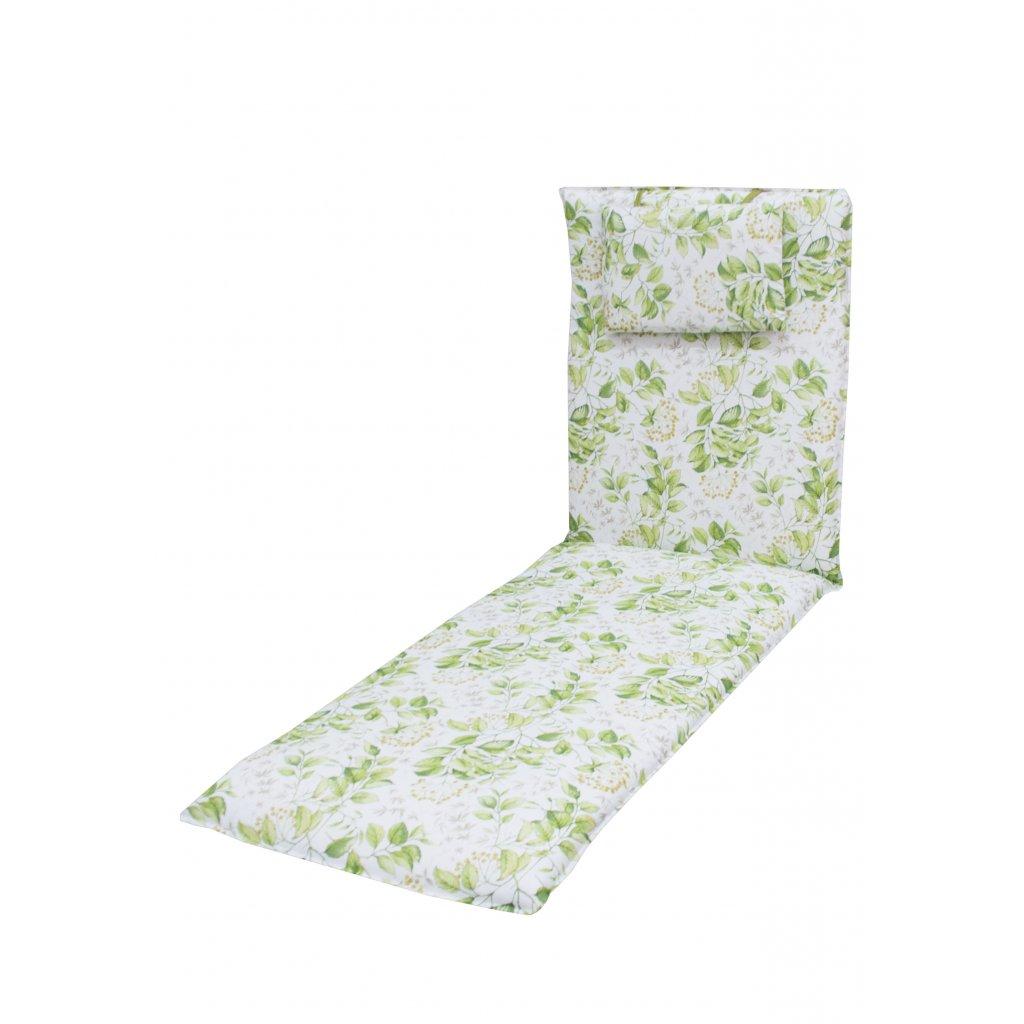 ELEGANT 2233 - polstr na zahradní lehátko s podhlavníkem