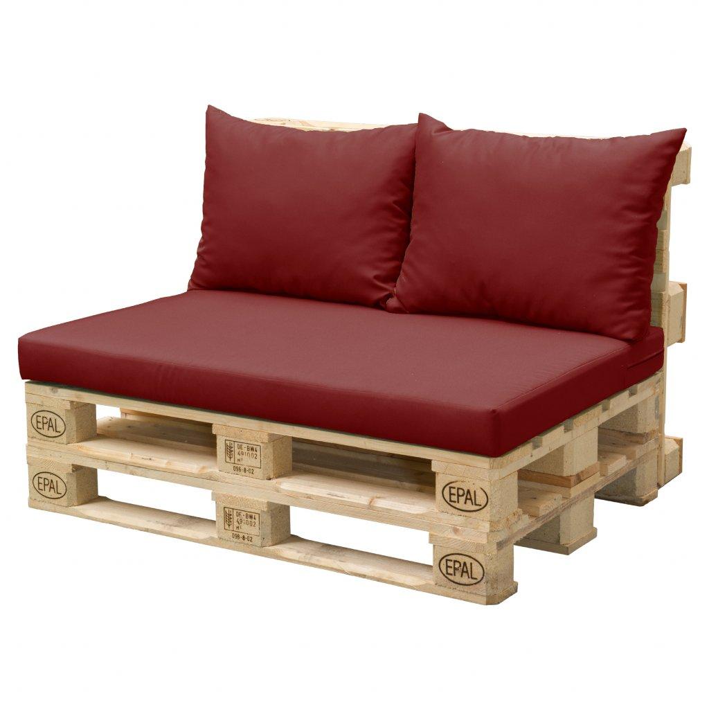 Paletové sezení sedák  plus  2x polštář