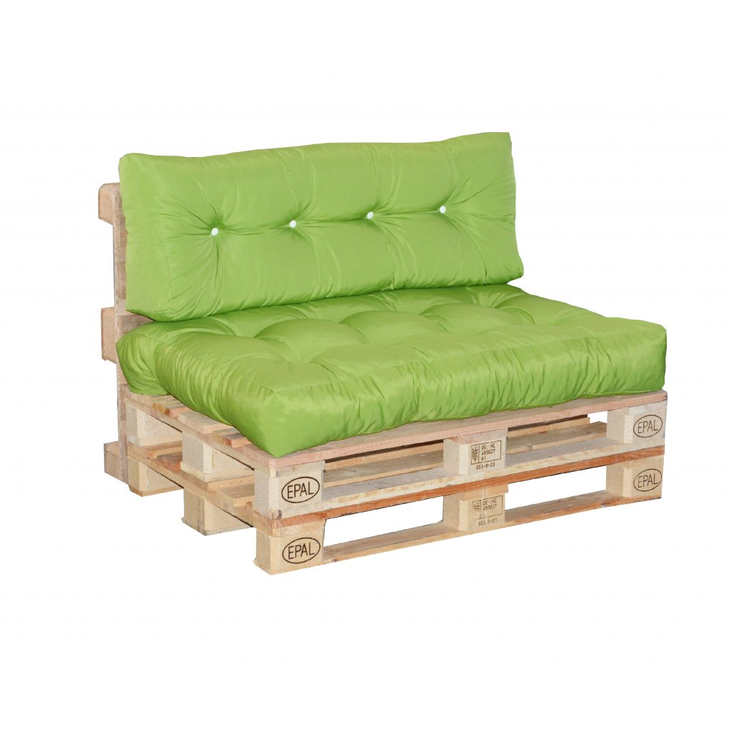 Paletové sezení sedák  plus  opěrka, výplň drcený molitan