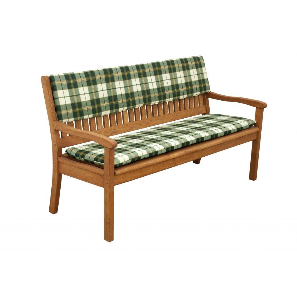 Sedák na lavici 2 sedadla 110x45 cm