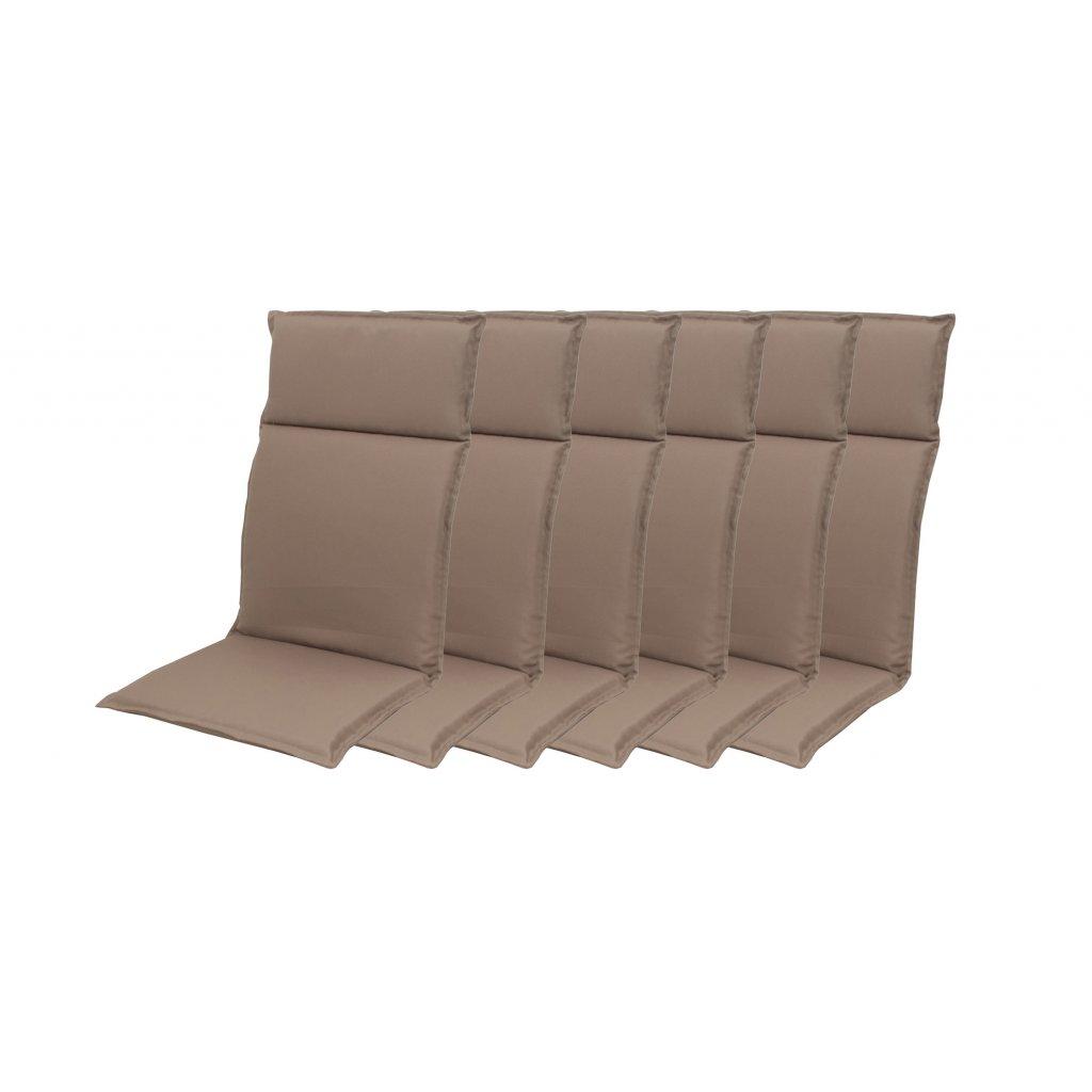 HIT UNI 7846 vysoký - set 6ks – polstr na křesla a židle