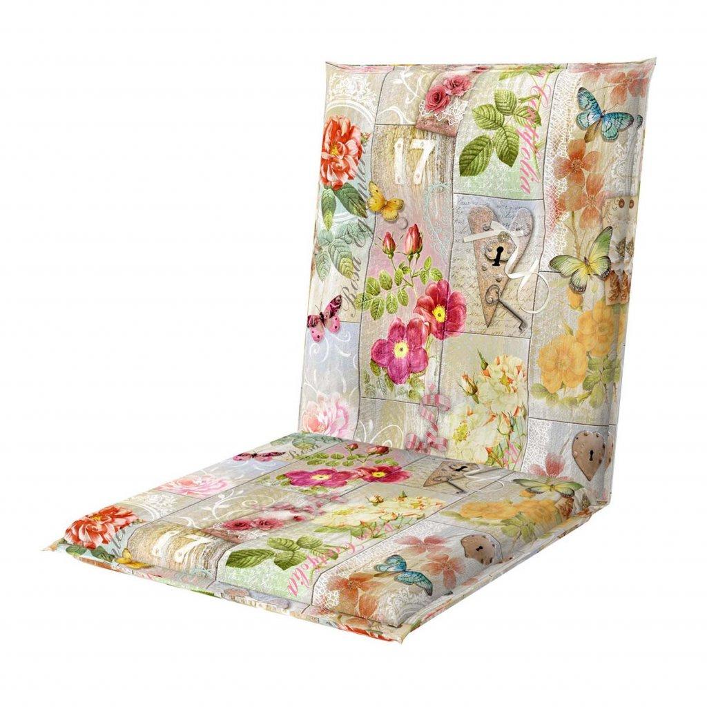 LIVING DE LUXE 7010 nízký - polstr na židli a křeslo
