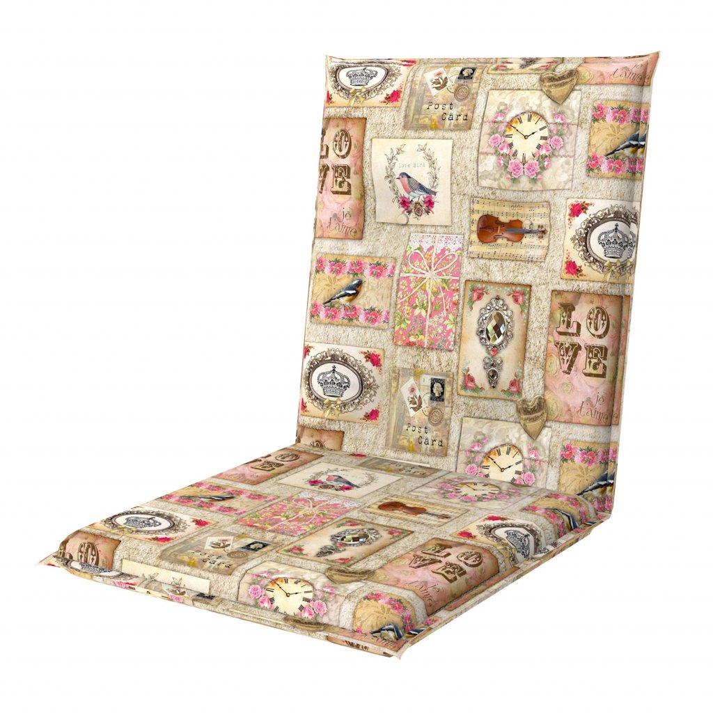LIVING DE LUXE 5037 nízký - polstr na židli a křeslo