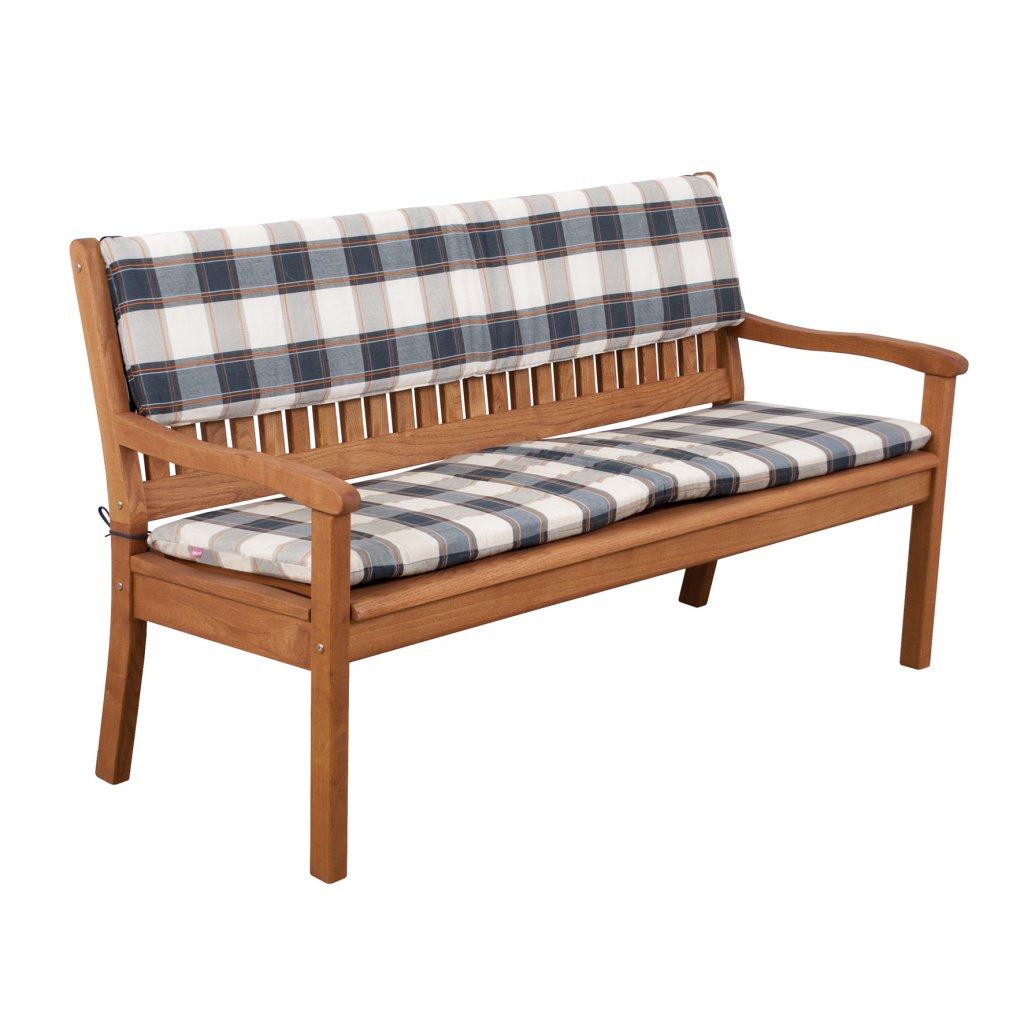 Opěrka na lavici 2 sedadla 110x30 cm