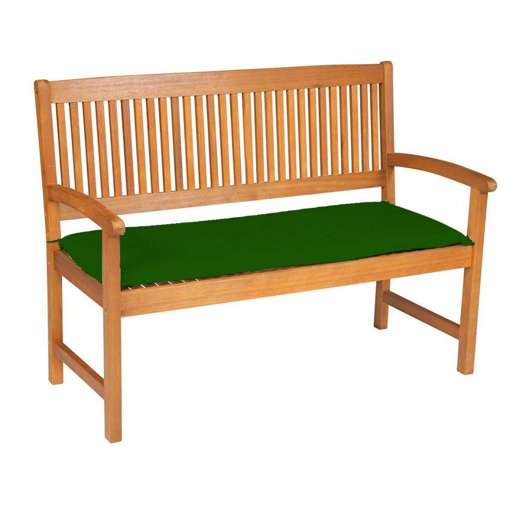 Sedák na lavici 2 sedadla 120x45cm zelená