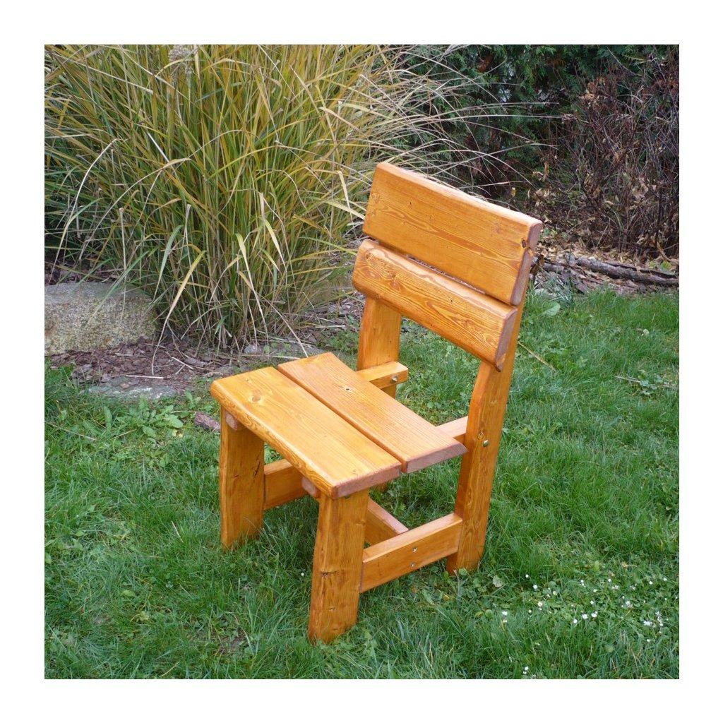 Rustikální smrková židle
