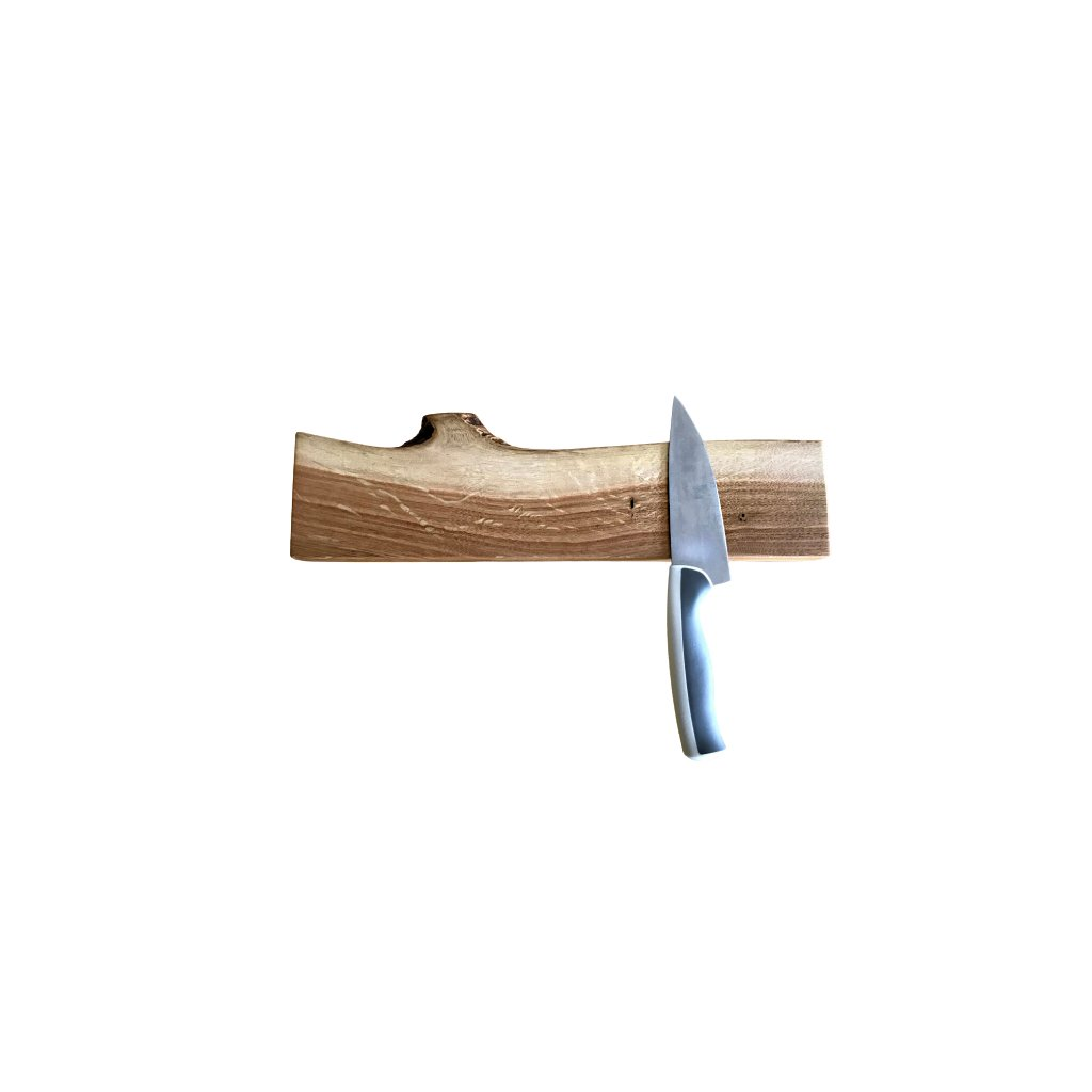 Magnetická lišta na nože - dub
