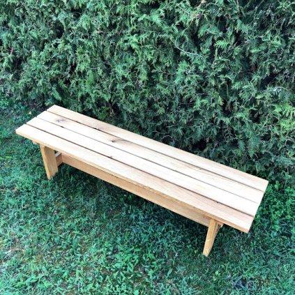 Zahradní lavice bez opěradla