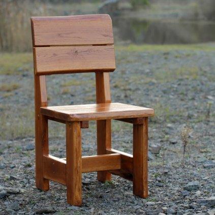 Rustikální dubová židle