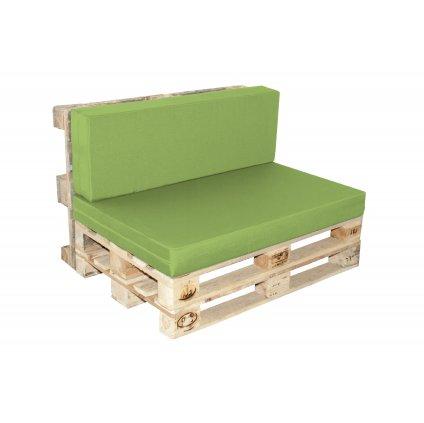 Paletové sezení sedák  plus  opěrka, výplň deskový molitan