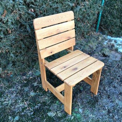 Zahradní dubová židle