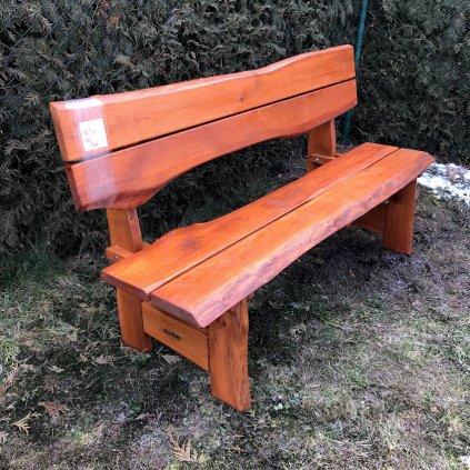 Rustikální dubová lavice