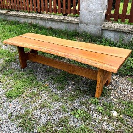 Rustikální zahradní lavice