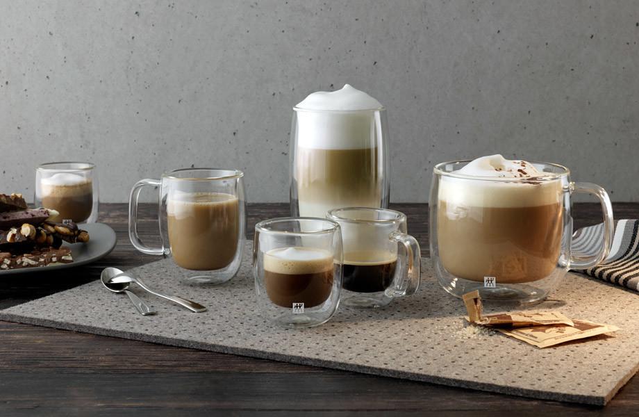 Sklenice na kávu a čaj