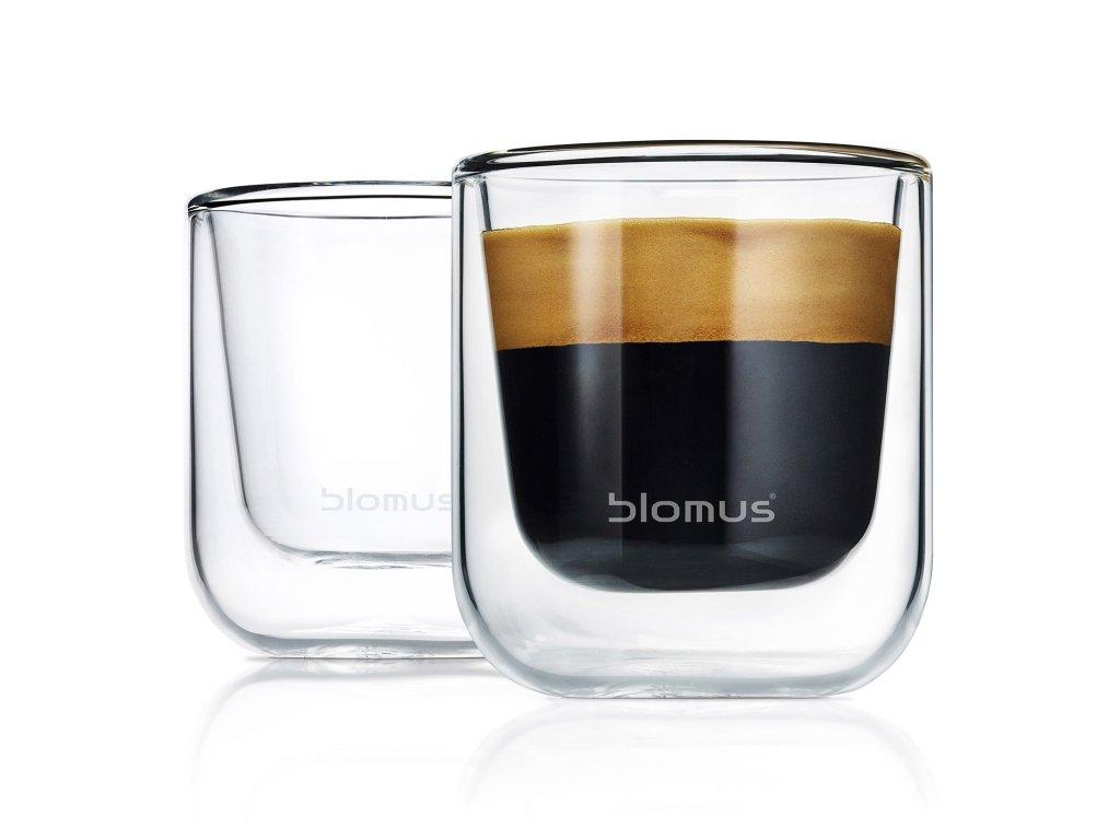 Set termosklenic na espresso NERO 80 ml Blomus