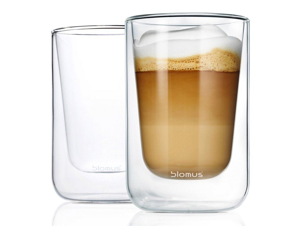 Set termosklenic na cappuccino 250 ml NERO