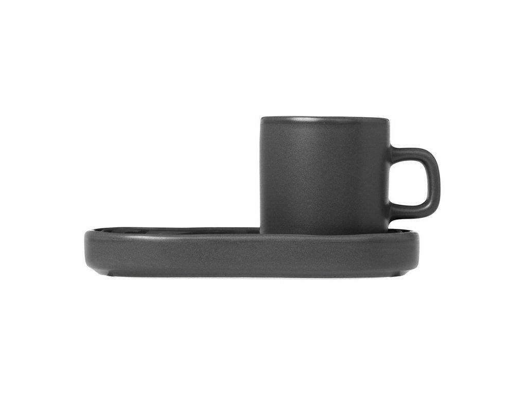 Sada 2 hrnků s podtácky na espresso Mio khaki
