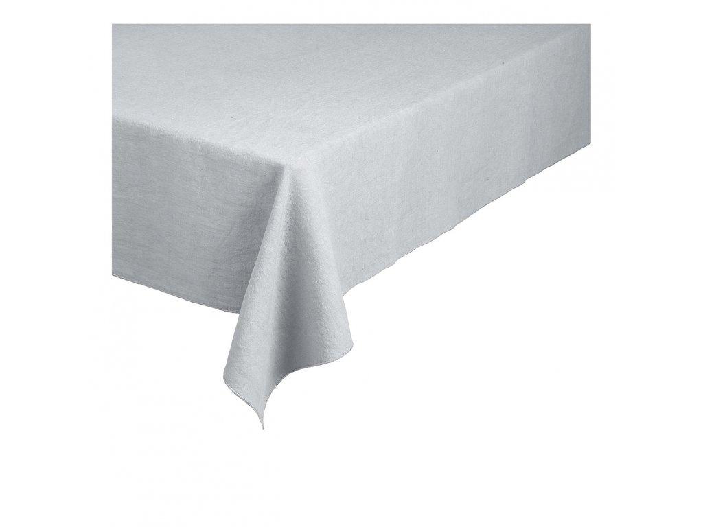Lněný ubrus Lineo šedobílý 160 x 300 cm
