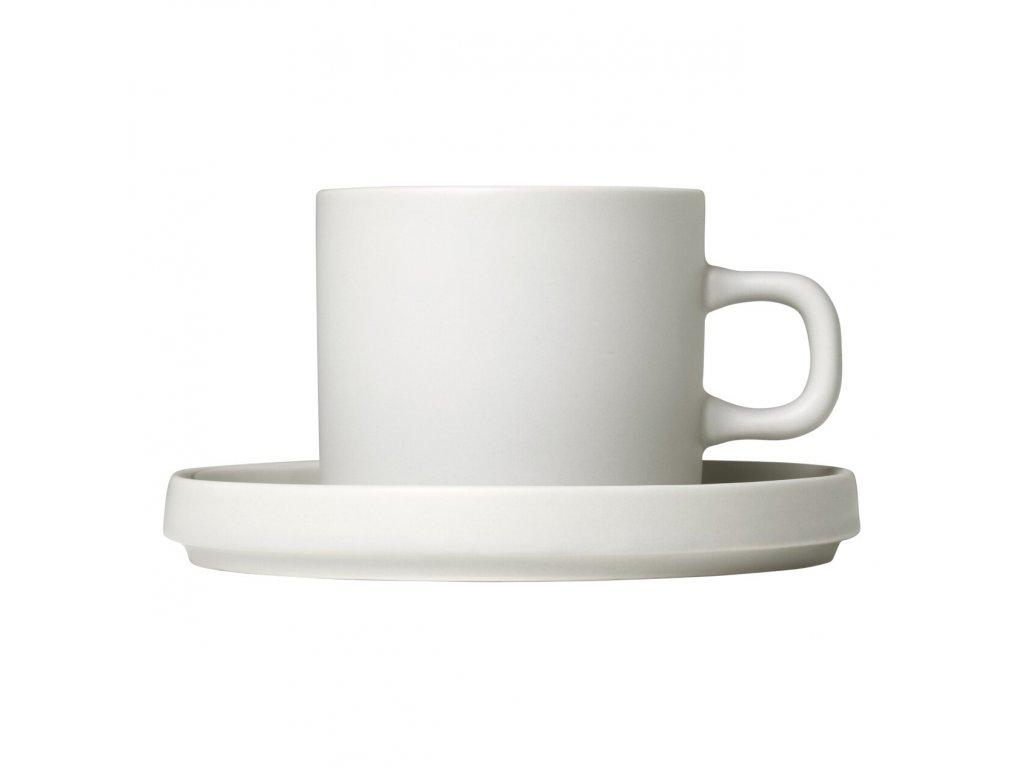 Sada 2 hrnků na kávu s podšálky Mio krémová 0,2 l