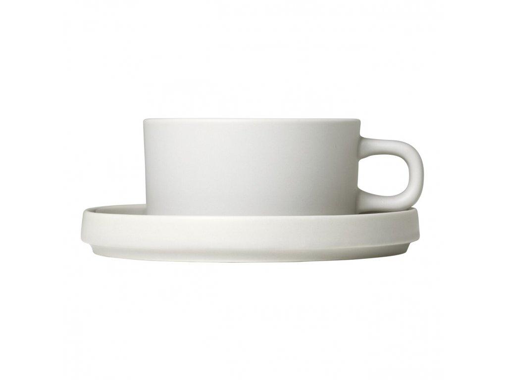 Sada 2 hrnků na čaj s podšálky Mio krémová 0,17 l