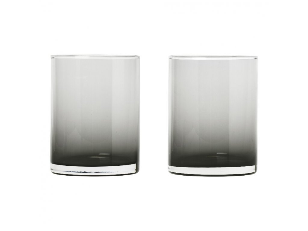 Set 2 skleniček MERA kouřové sklo 0,22 l Blomus