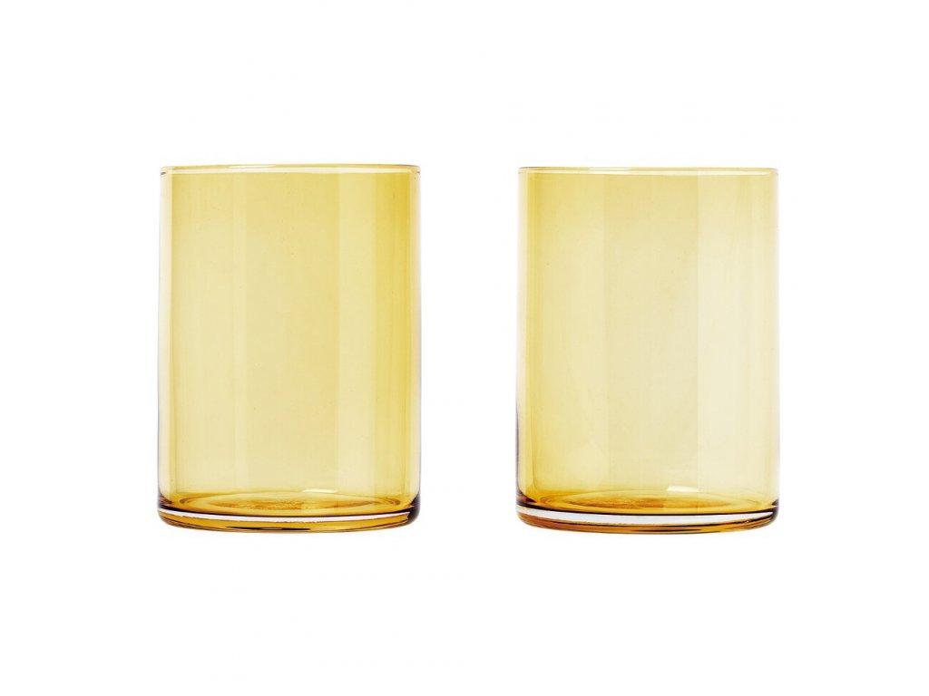 Set 2 skleniček MERA matná zlatá 0,22 l Blomus
