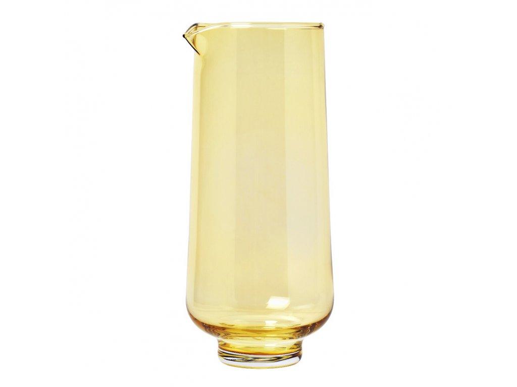 Karafa na vodu FLOW matná zlatá 1,1 l