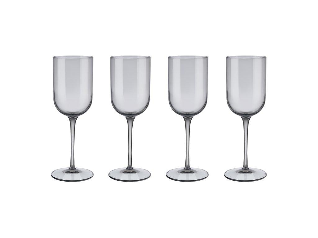 Set 4 sklenic na bílé víno FUUM kouřové sklo