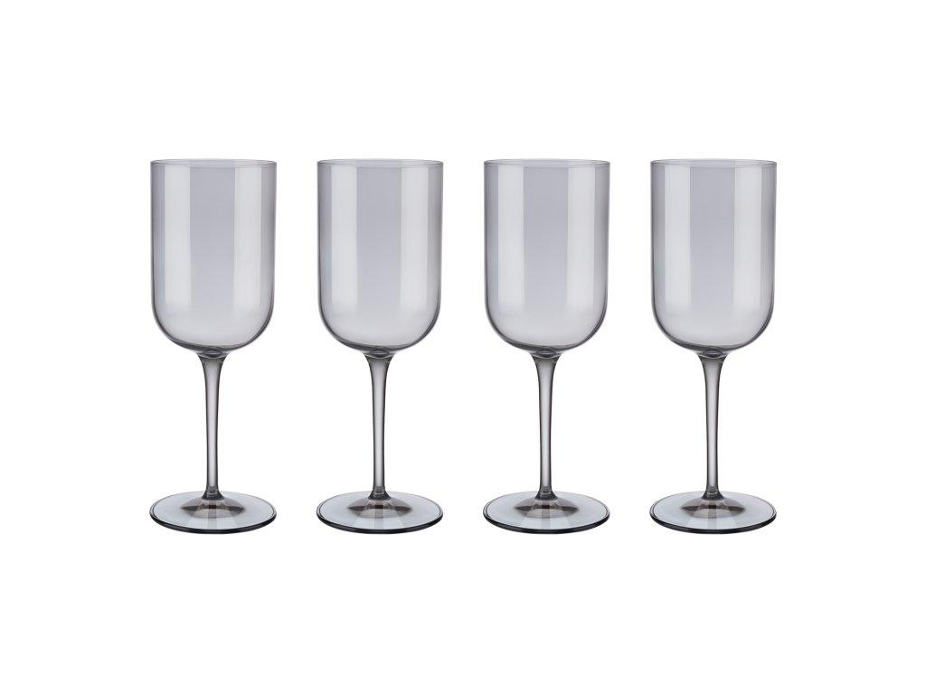 Set 4 sklenic na červené víno FUUM kouřové sklo