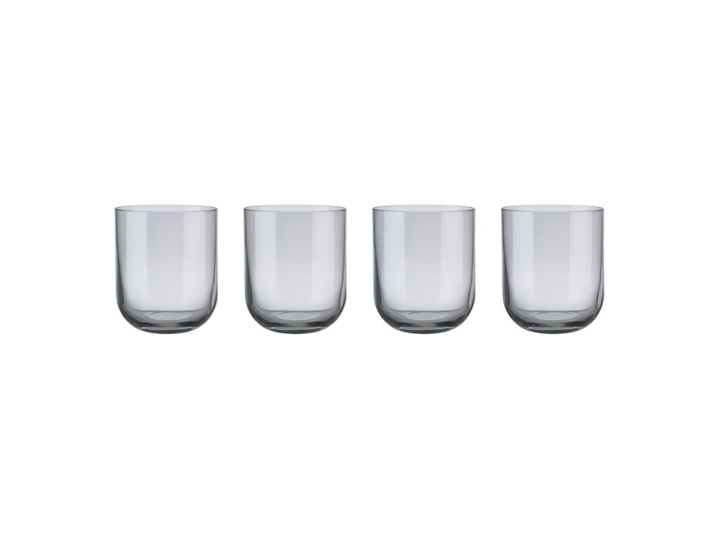 Set 4 sklenic na vodu FUUM kouřové sklo Blomus