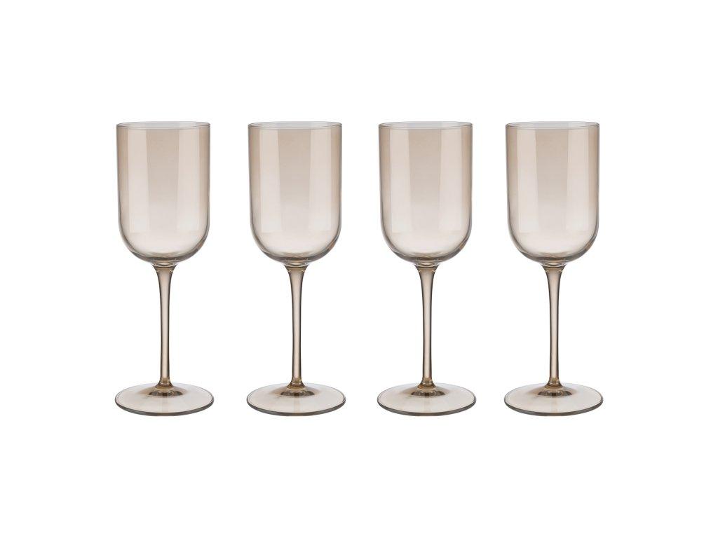 Set 4 sklenic na bílé víno FUUM zlatavé sklo