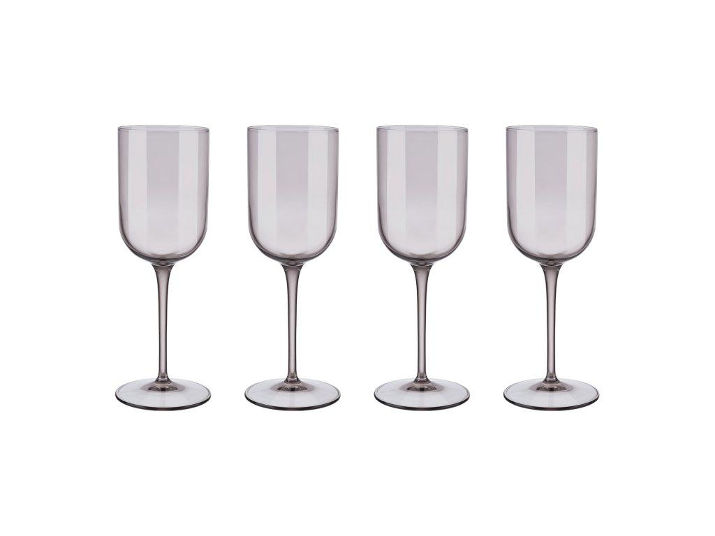 Set 4 sklenic na bílé víno FUUM hnědé sklo Blomus