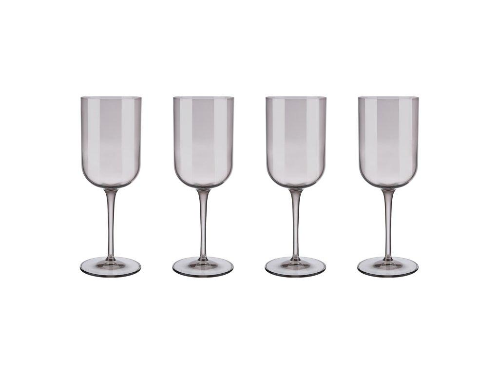 Set 4 sklenic na červené víno FUUM hnědé sklo