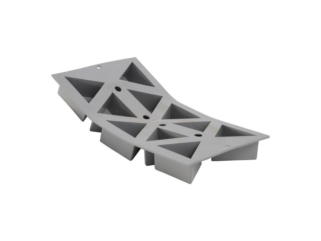Profi silikonová forma na 10 jednoporcových trojhranů Elastomoule®