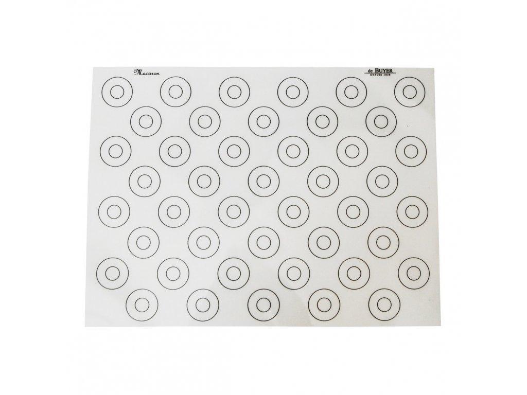 Silikonová podložka na makronky se značkami 40 x 30 cm